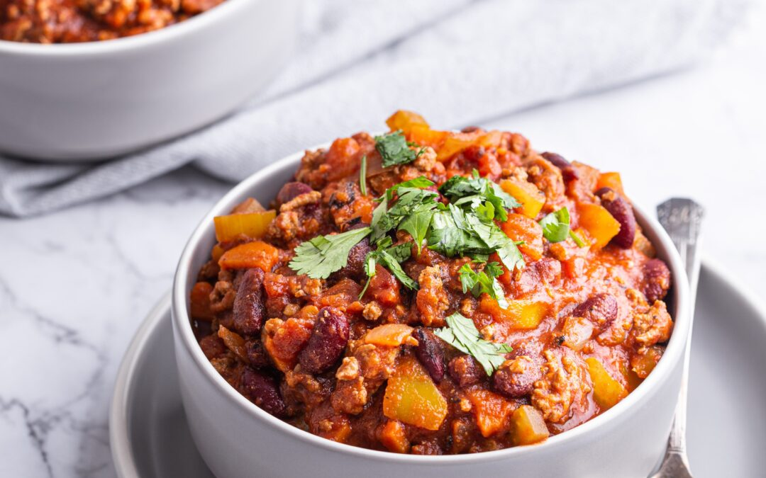 One Pan Healthy Mexican Turkey Chili